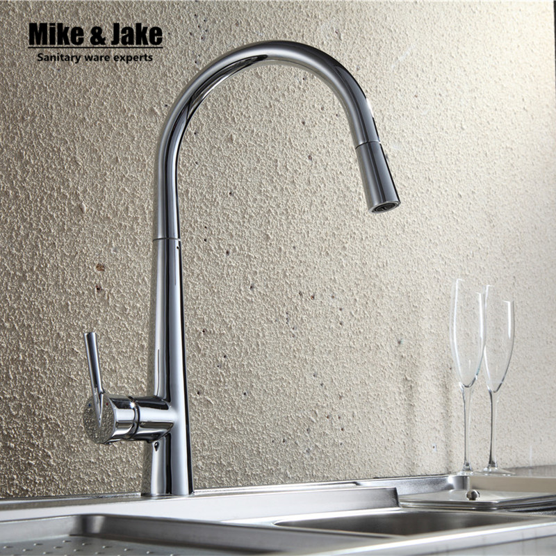 New Pull out kitchen Faucet pull down kitchen mixer sink faucet pull out taps for sink taps hot and cold kitchen Mixer MJ919 preminum black brass single handle pull out sprayer kitchen sink cold hot mixing faucet pull down pull out kitchen faucet