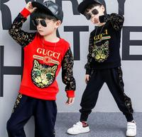 Boys Suit 2018 autumn section Korean Edition two children's children's cartoon children's clothing boy kid child clothing
