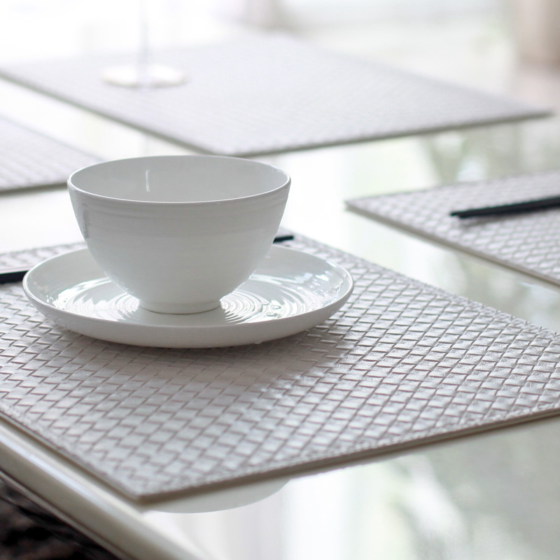 Set of 4 3141cm Reversible Faux Leather Rhombus White  : Set of 4 31 41cm Reversible Faux Leather Rhombus White Black Placemats Table Decoration Plate Pad from www.aliexpress.com size 800 x 800 jpeg 142kB