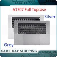 661 06378 серебристо серый для Macbook Pro 15 A1707 Topcase w/английская клавиатура трекпад Touch Bar Батарея A1820 2016 2017 год
