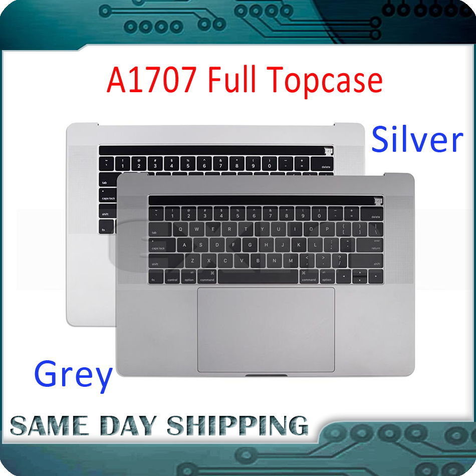661-06378 Silver Grey for Macbook Pro 15 A1707 Topcase w/ Keyboard US English Trackpad Touch Bar Battery A1820 2016 2017 Year661-06378 Silver Grey for Macbook Pro 15 A1707 Topcase w/ Keyboard US English Trackpad Touch Bar Battery A1820 2016 2017 Year