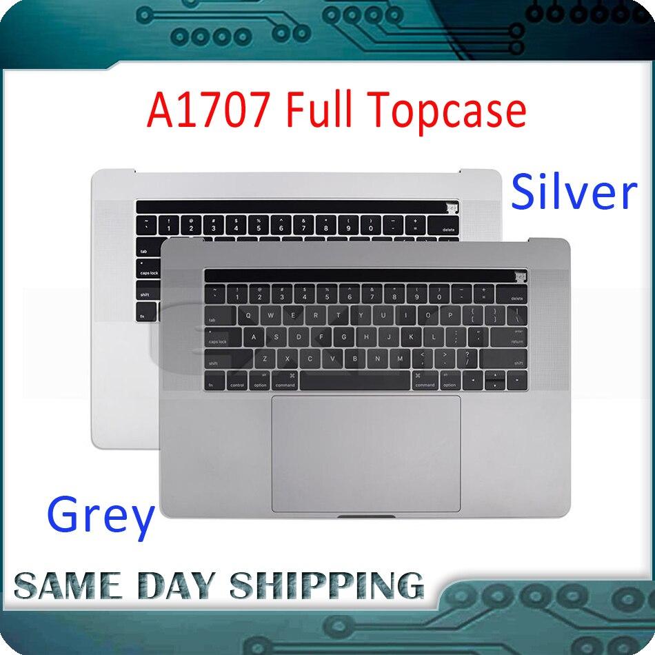 661-06378 gris argent pour Macbook Pro 15 A1707 Topcase w/clavier US anglais Trackpad tactile Bar batterie A1820 2016 2017 an