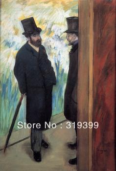 Oil Painting Reproduction on Linen Canvas,Friends at the Theatre by Edgar Degas ,Free DHL Shipping,handmade,Museum Quality