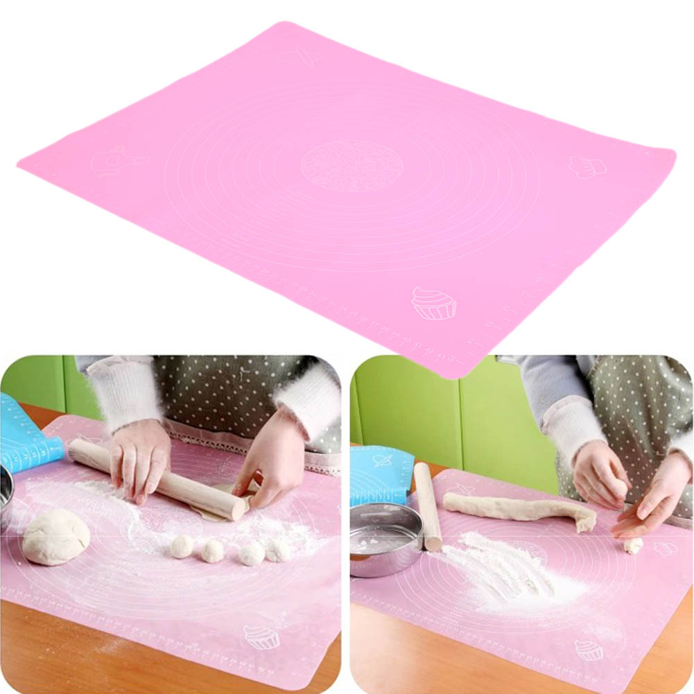 Large Size Baking Mat Pad Silicone Cake Dough Rolling