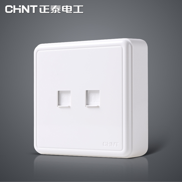 53167600be0 NEW1C surface mounted Chint socket panel phone computer telephone line  interface and Internet cable interface