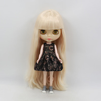 T02 X089 Blyth Doll Clothes 1 6 Dolls Accessories Joint Body Handmade Girl Black With Pattern