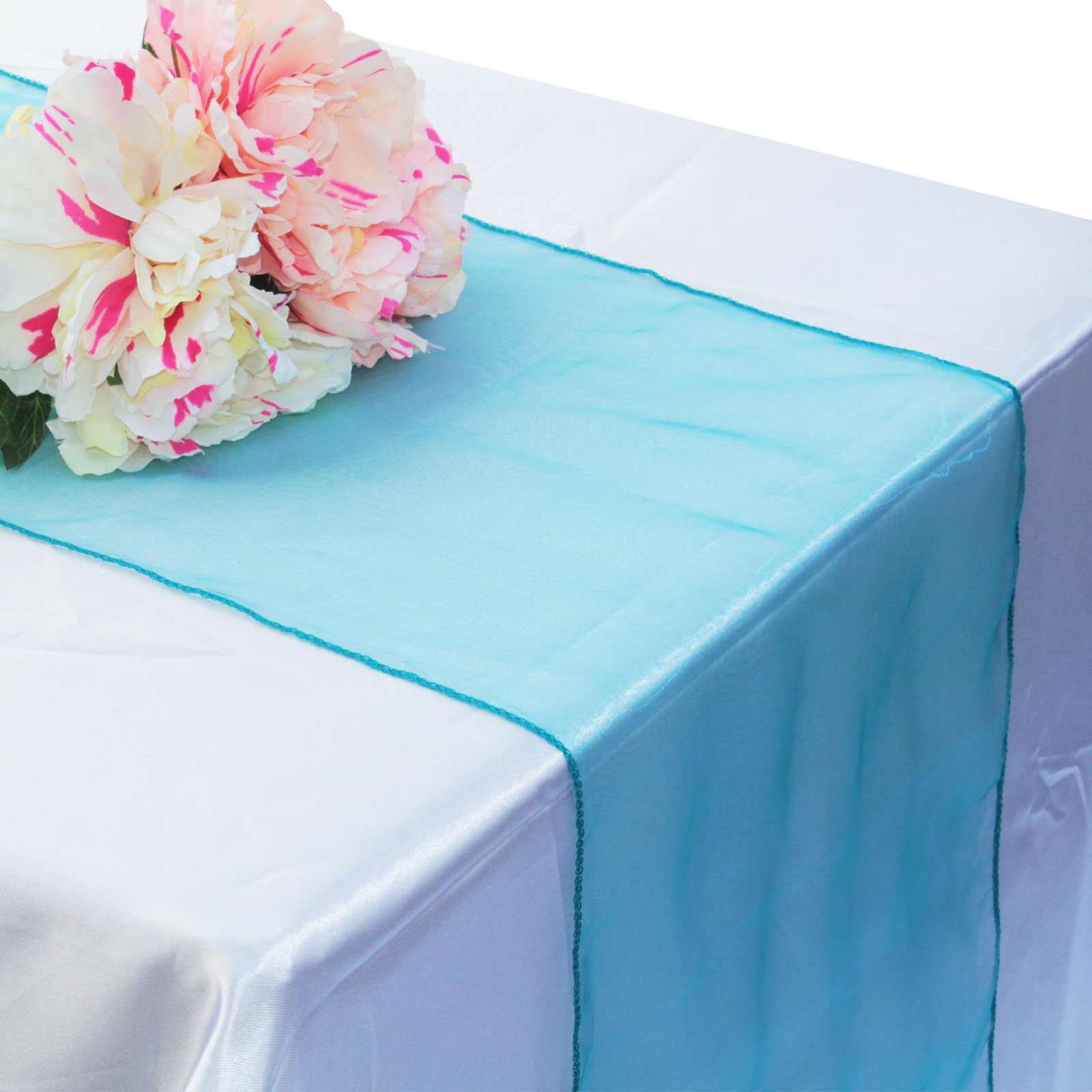 1pcs 30x275cm Organza Table Runner Soft Sheer Fabric For Wedding Party Banquet Table Decoration Chair Bows Swag Luxury