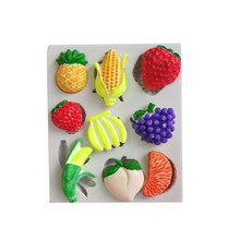 Chocolade Mold Fondant Candy Mold Tool Fruit Ananas Banaan Druif Vorm Silicone Mold Cake Decoratie Tool(China)