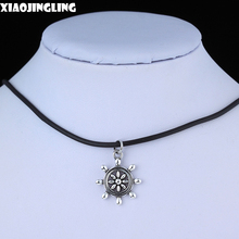 XIAOJINGLING Hot Selling Jewelry Best Friend Hot Sailor Neckalces Silver Wheel Vintage Chain Necklaces&Pendants Women Necklace