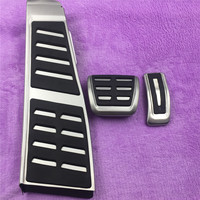 DEE RHD Modified Car Pedal Pad For Audi A5 A4 B8 8K Q5 8R Accelerator Brake Foot Rest AT Refit Stainless Plate Auto Accessory