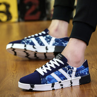 Spring New Fashion Canvas Shoes Canvas Lace Up Outdoor Casual Shoes Breathable Flats Male Skate Shoe
