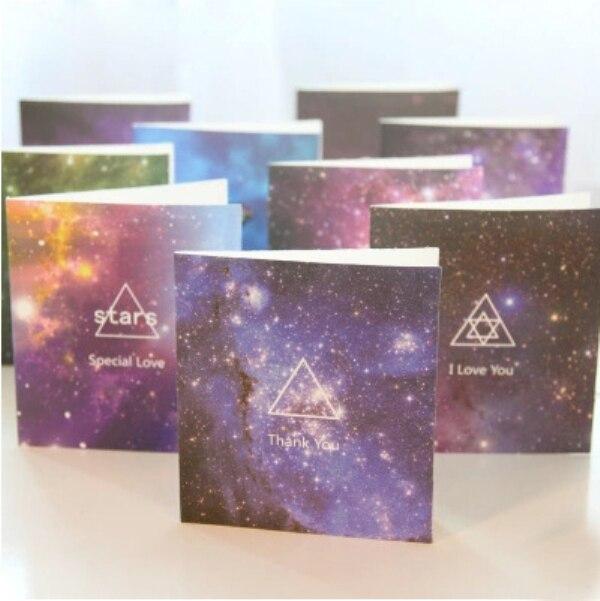 1Pcs New Gift Stars Birthday Card Greeting Cards Greeting Cards Valentines Day Greeting Card H0141