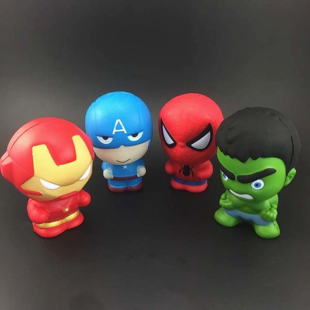 PU 3 Vingador Capitão América Homem de Ferro Hulk spiderman brinquedos Simulação mole Mole lenta recuperação Gadget Engraçado Vent Decompressio