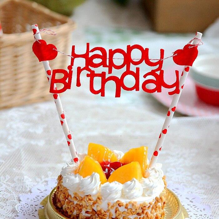 1pcs happy birthday Cake Topper Cake baking Decoration Dessert