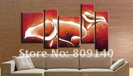 Free Shipping Oil Painting Canvas Beautiful Flower Modern Decoration High  Quality Handmade Home Office Hotel Wall