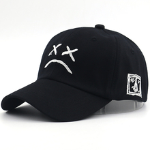 New sad face baseball cap embroidery fashion sad boy dad hat