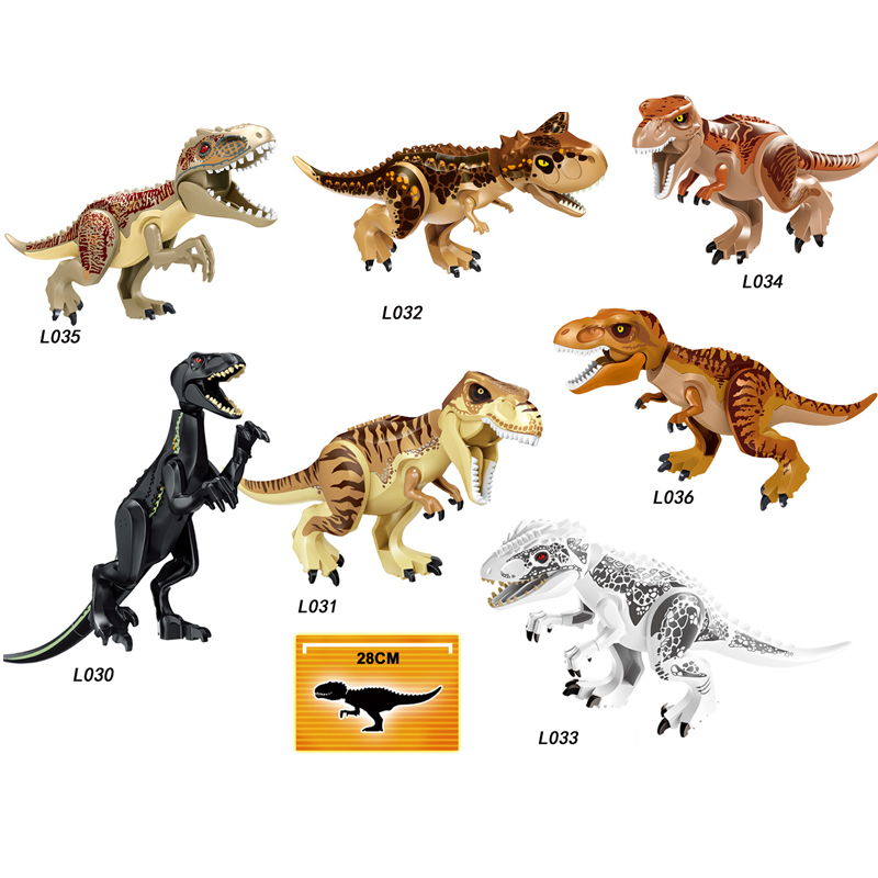 Jurassic World Brutal Raptor Building Blocks Mini Jurrassic World 2 Dinosaur Figures Bricks Toys For Children Compatible Legoing