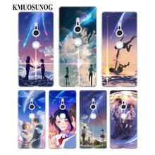 Transparent Soft Silicone Phone Case Japanese anime Your Name for Sony Xperia E5 XA1 XA2 M5 Z5 XZ1 XZ2 Compact