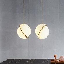 Simple single head pendant light diameter 25CM staircase lamp Nordic creative fashion shop bubble