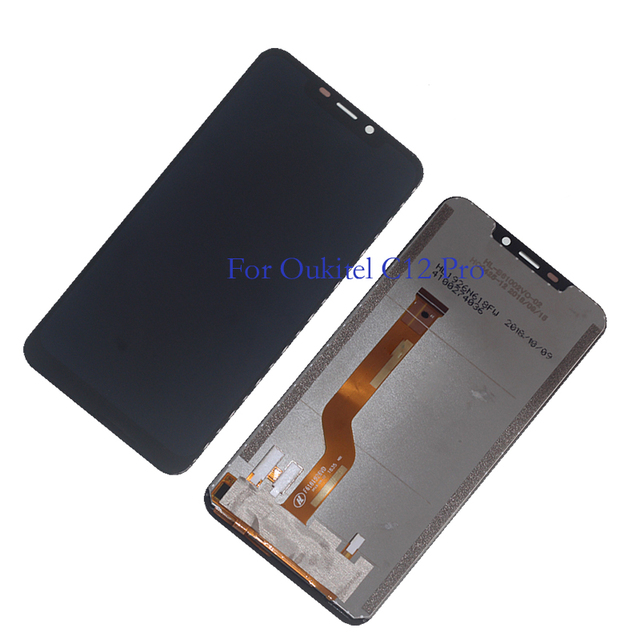 Original DISPLAY for OUKITEL C12 PRO LCD monitor touch screen test digitizer kit replacement C12Pro display + tools
