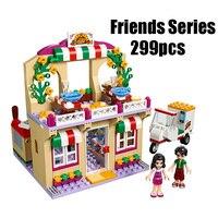 WAZ Compatible Legoe Friends 41311 Lepin 01011 299pcs Building Blocks Restaurant Series Pizza Bricks Figure Toys