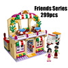 WAZ Compatible Legoe Friends 41311 Lepin 01011 299pcs Building Blocks Restaurant Series Pizza Bricks Figure Toys