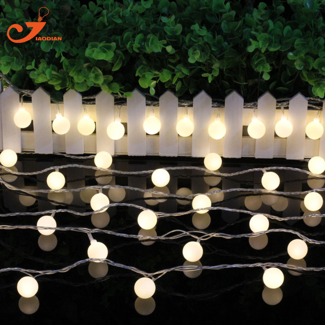 ball lighting 6pcs lot 10led warm white globe string lights party wedding christmas lights holiday