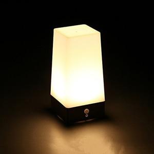 Wireless Motion Sensor LED Night Light Battery Powered LED Table Lamp Sensitive Lights Stairway Bedroom Emergency For Kids Home