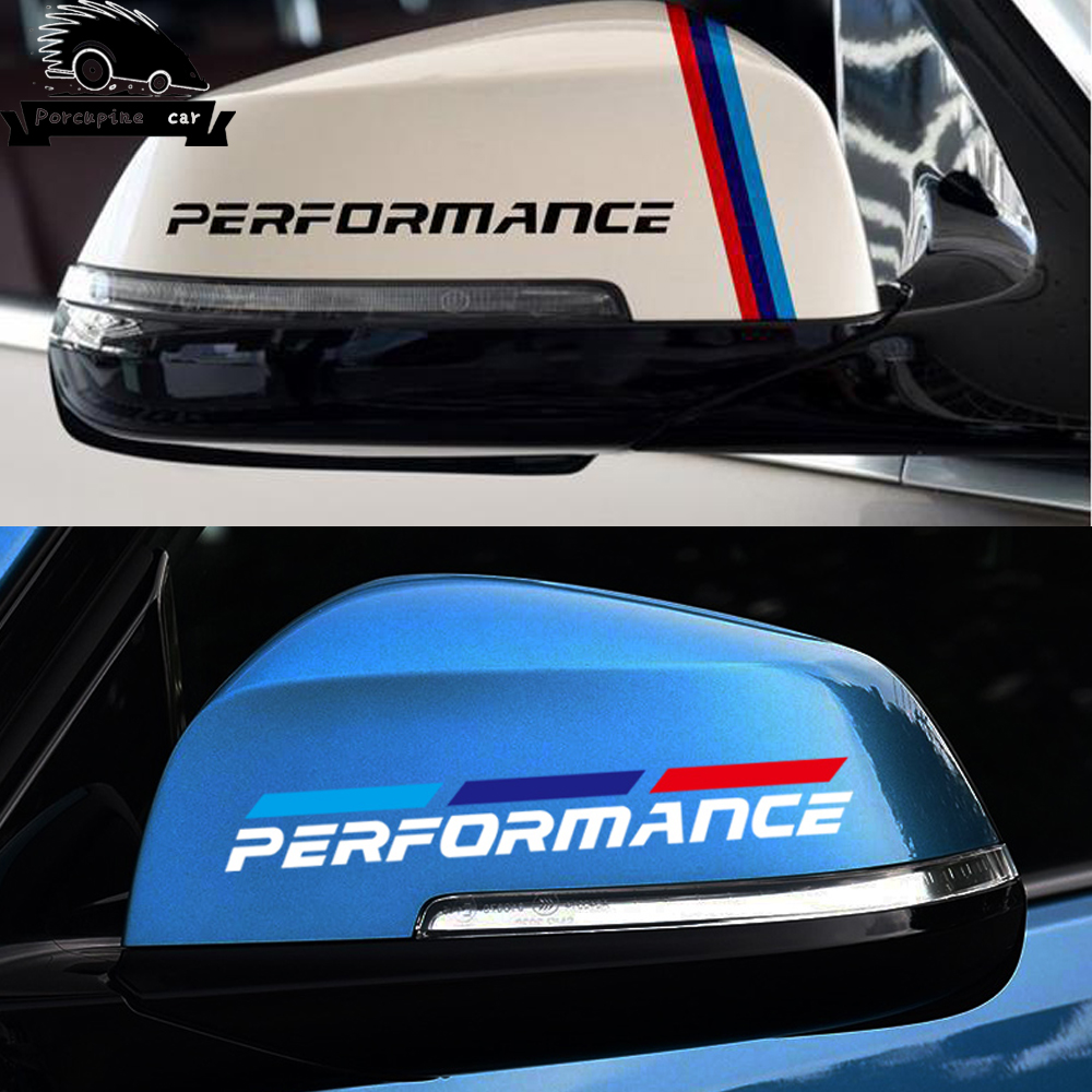 2pcs M Power Performance car rearview mirror sticker for <font><b>BMW</b></font> 1 <font><b>3</b></font> 4 5 7 <font><b>Series</b></font> <font><b>GT</b></font> X1 X3 X4 X5 X6 F15 F16 F18 F10 F25 F30 F31 F34 image