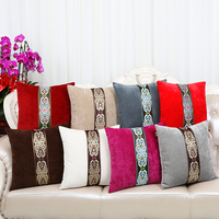Modern Patchwork Lace Pillow Cushion Covers for Sofa Seat Chair 45 50 60cm European Lumbar Cushion Velvet Decor Pillow Case