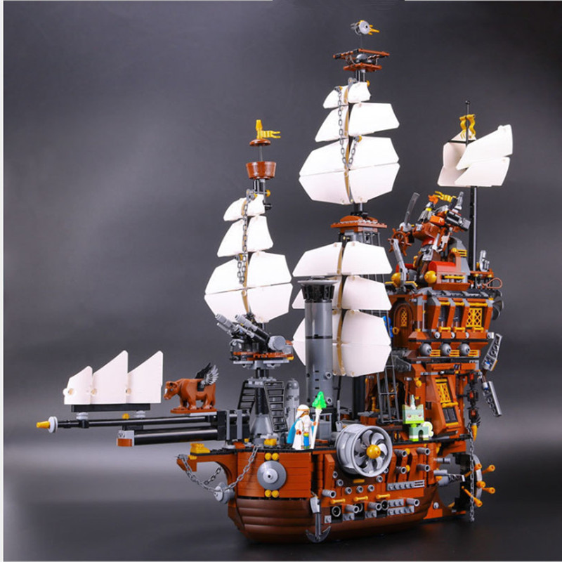IN STOCK XYTMC 16002 2791PCS Pirate Ship Metal Beard's Sea Cow LEPIN Model Building Blocks Bricks Toys Compatible LEGOUGAS 70810 удилище телескопическое onlitop rapide 6 м 10 40 г