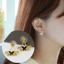 2018 New Fashion Jewelry Pearl Flower Multi-earrings Women's Elegant Earrings Small And Delicate Bows Hanging Earrings(China)