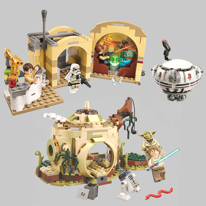 Bela 10905&10904  Star Wars Seriers Mos Eisley Cantina Skywalke R2D2 Building Block Bricks Toy Compatible With legoings toy giftBela 10905&10904  Star Wars Seriers Mos Eisley Cantina Skywalke R2D2 Building Block Bricks Toy Compatible With legoings toy gift