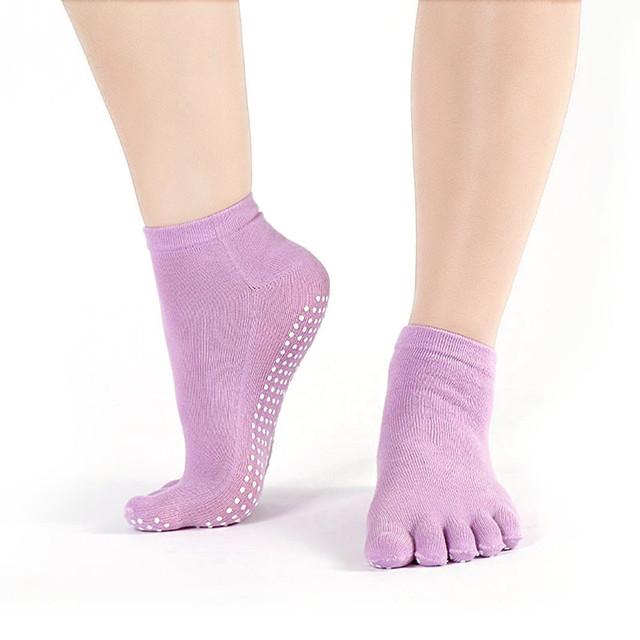 Women's Cotton Colorful Full Grip Non Slip Socks for Yoga & Gym