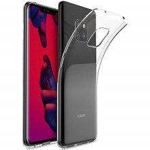 Huawei Mate için 20 Pro Kılıf 6.39 inç Şeffaf Silikon Yumuşak TPU Kılıf Için Huawei Mate 20 Pro LYA-AL00 LYA-L09 şeffaf arka kap...