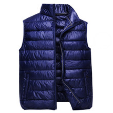 Men Parka Vest Coat New Autumn Winter Casual Thick Down Cotton Padded Vests Male Short Waistcoat Sleeveless Jacket Outwear AB665