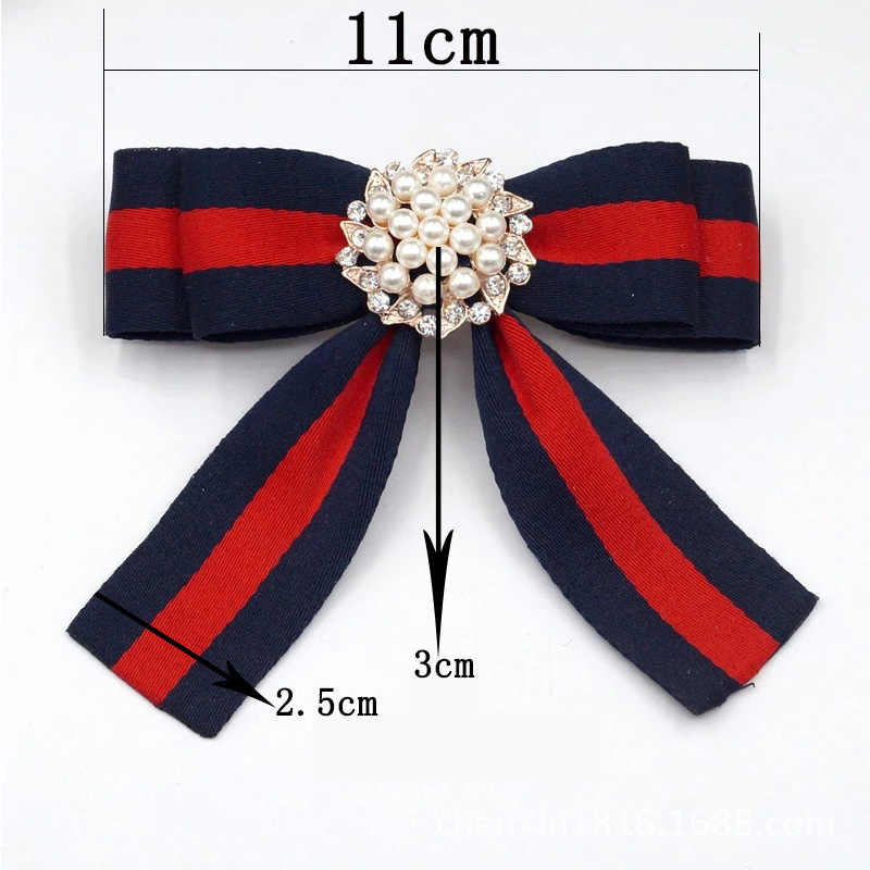 2a133673cc3 ... Fabric Bow Brooches for Women Necktie Style Brooch Pin Wedding Dress  Shirt Brooch Pin Handmade Accessories ...