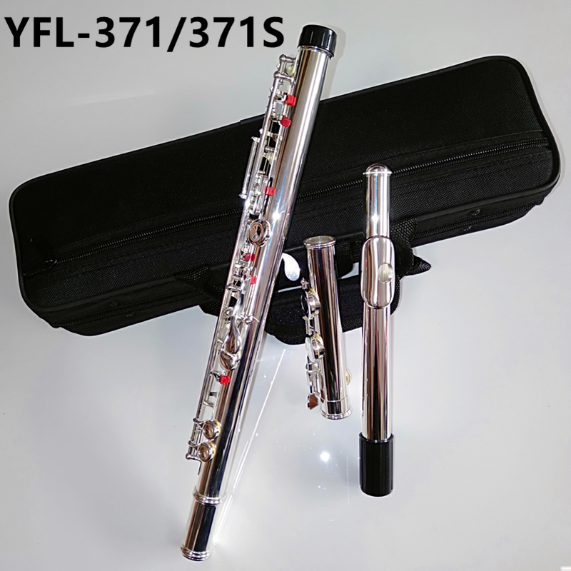 Top Japan flute YFL 371 16 Open&Close Holes Standard Nickel Silver Plated Student transverse Flauta obturator C Key with E key