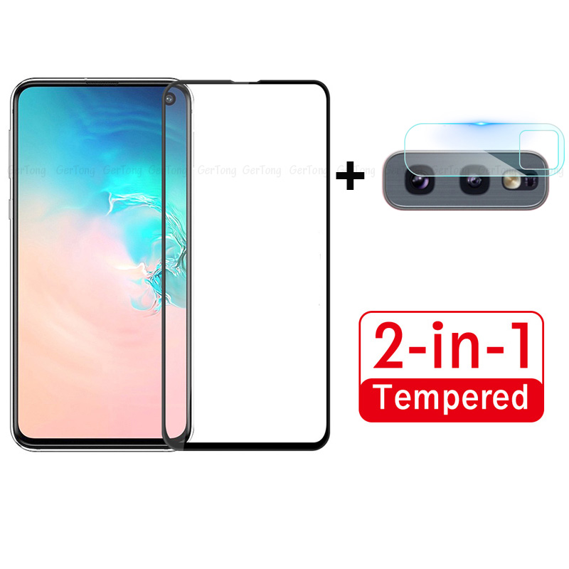 2-in-1 Camera Lens Tempered Glass For Samsung Galaxy S10e 9H Screen Protector For Samsung Galaxy S10e Full Cover Protective Film