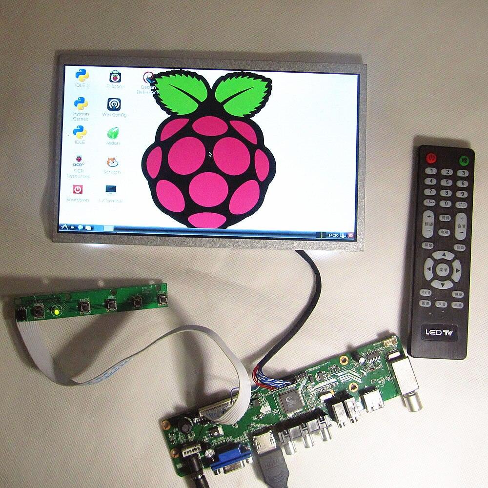 10.1 ''pouces écran d'affichage LCD pour moniteur d'ordinateur LED 1024*600 HD écran LCD TV + HDMI + usb + audio PC quatre-en-un bricolage LCD kit