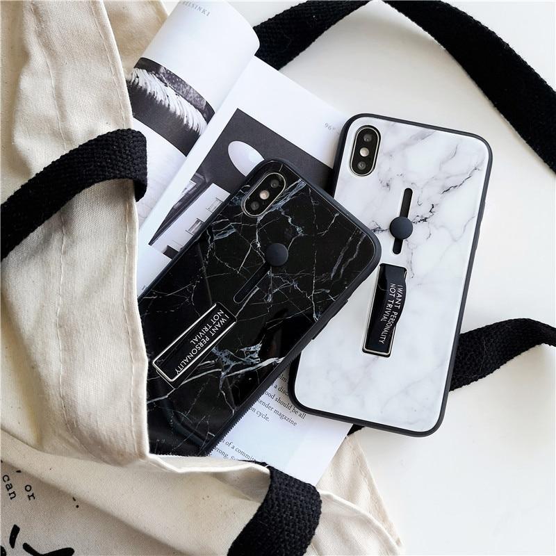 VIP покупка ссылка Мода кольцо стенд чехол для iPhone X XS Max XR 8 7 6 6s plus 9 H закаленное стекло Kickstand тонкий задняя крышка