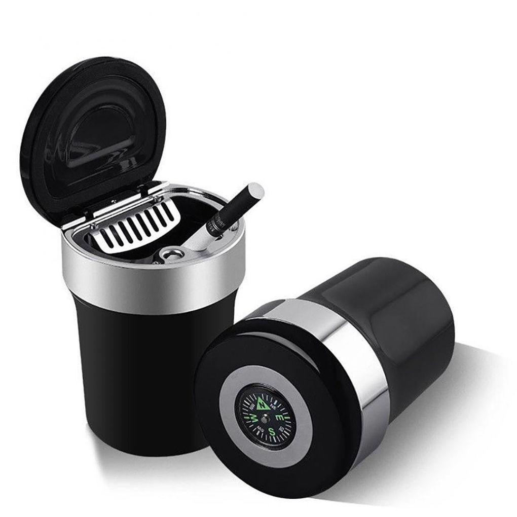 Портативный автомобильный дорожный офисный домашний светодиодный светильник ABS сигарета пепельница держатель Компас крышка