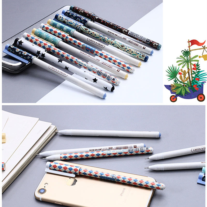 Gel Ink Pen 50pcs/set Cute Classic Retractable 40pc black ink+10pcs blue ink Roller Ball Boys Male Office School Stationary Pen pilot dr grip pure white retractable ball point pen