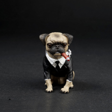 1/6 AS032 Lovely Pug Dog With Cigar Animal Models for 12''Action Figures Scene Accessories Toys Gifts