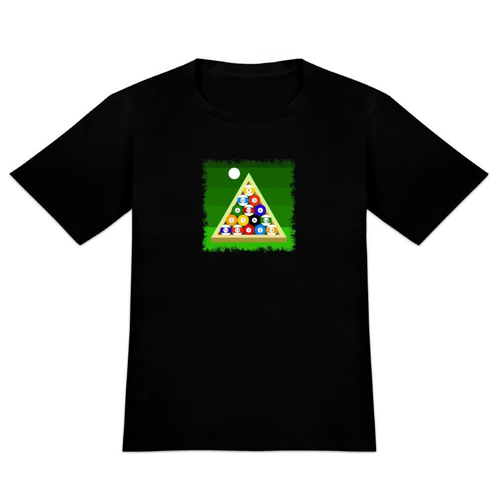 Billiard Balls and Triangle Pool Table Mens Novelty Print T-Shirt Men Summer Style