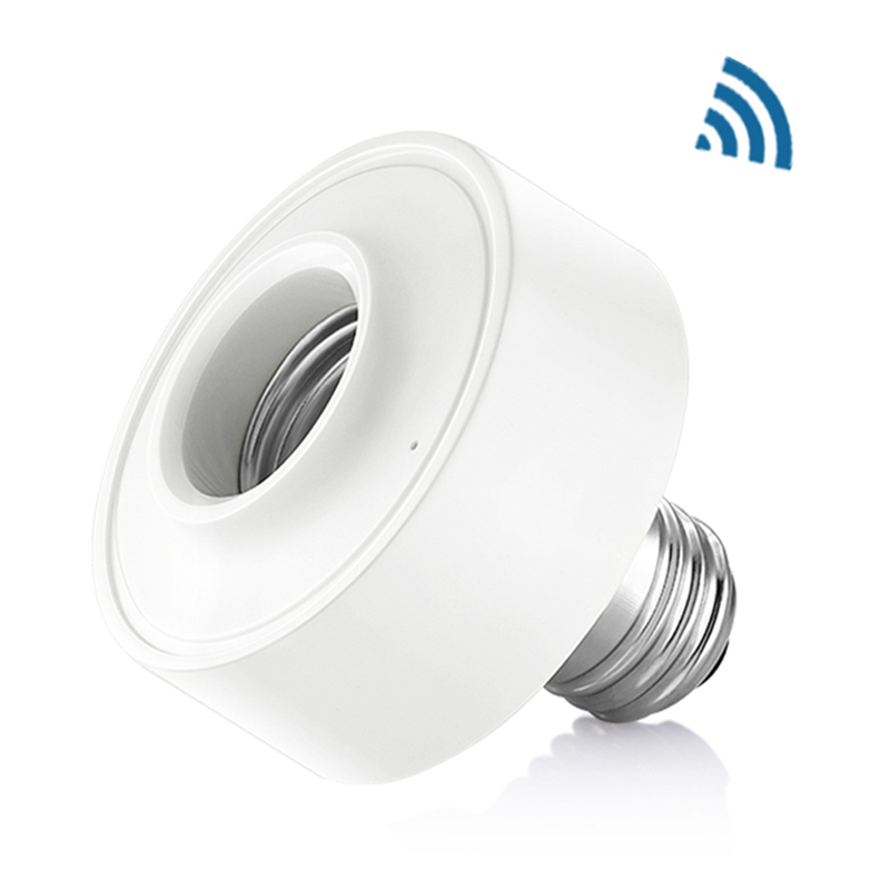 CLAITE AC100-250V WiFi Wireless Voice Control Smart E27 Light Bulb Adapter Lamp Holder Work With Amazon Alexa Holder Cap Socket