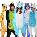 Pijamas de La jirafa de La Pegasus del unicornio de las muchachas de Greywalnut conjuntos de pijamas de la historieta del Animal de franela