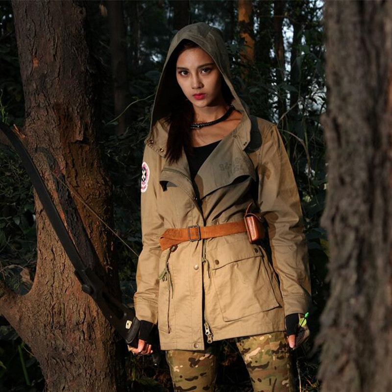 New Women Spring Trench Tactical Military Jacket 100% Cotton Female Urban Coat-in Parkas from Women's Clothing    2