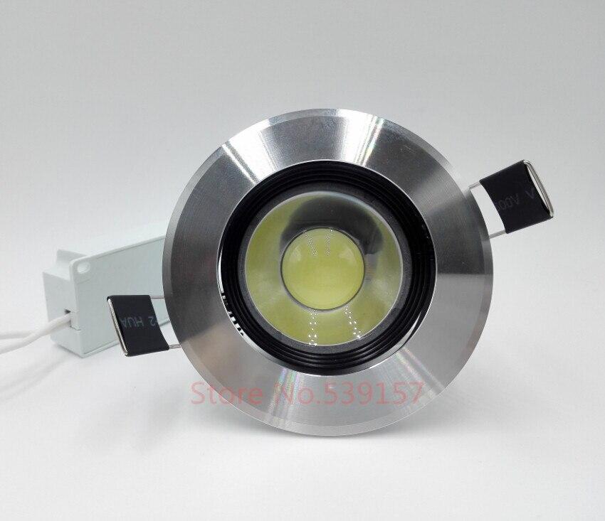 Бесплатная доставка 10 Вт теплый белый/холодный белый COB LED Подпушка свет встраиваемые + светодиодный драйвер AC85-265V
