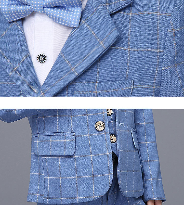 49482b98a019 2018 new fashion blue Plaid baby boys suit kids blazers boy suit for weddings  prom formal. sku  32868875675